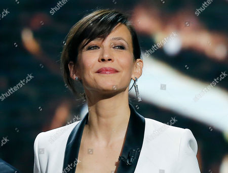 French actress Sophie Marceau smiles during the of 43rd Cesar Film Awards ceremony, in Paris