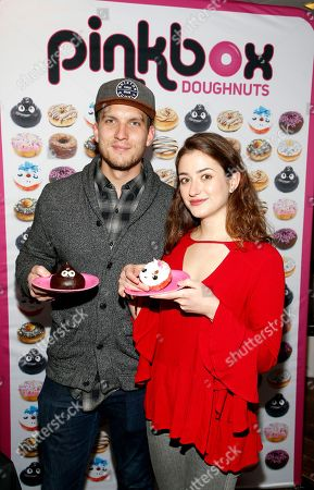 Holly Curran, Scott Michael Foster. Attends Day 2 of the Kari Feinstein Style Lounge at the Andaz Hotel on in West Hollywood, Calif