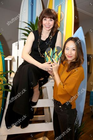 Elizabeth Ho, Audrey Moore. Audrey Moore, left, and Elizabeth Ho attend Day 2 of the Kari Feinstein Style Lounge at the Andaz Hotel on in West Hollywood, Calif