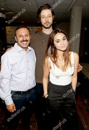 Rizwan Manji, Hale Appleman, Summer Bishil. Attends Day 2 of the Kari Feinstein Style Lounge at the Andaz Hotel on in West Hollywood, Calif
