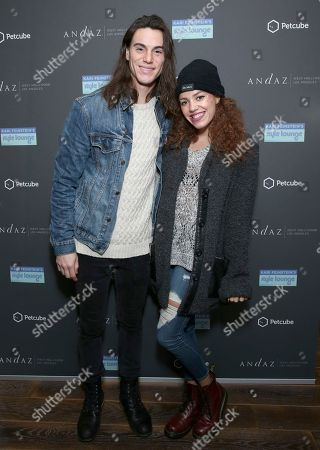 Mahogany Lox, right, and guest attend Day 2 of the Kari Feinstein Style Lounge at the Andaz Hotel on in West Hollywood, Calif