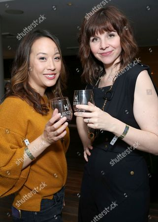 Stock Image of Elizabeth Ho, Audrey Moore. Audrey Moore, left, and Elizabeth Ho attend Day 2 of the Kari Feinstein Style Lounge at the Andaz Hotel on in West Hollywood, Calif