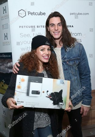Mahogany Lox, left, and guest attend Day 2 of the Kari Feinstein Style Lounge at the Andaz Hotel on in West Hollywood, Calif