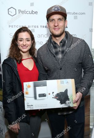 Scott Michael Foster, Holly Curran. Scott Michael Foster, right, and Holly Curran attend Day 2 of the Kari Feinstein Style Lounge at the Andaz Hotel on in West Hollywood, Calif
