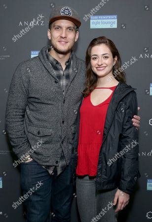 Scott Michael Foster, Holly Curran. Scott Michael Foster, left, and Holly Curran attend Day 2 of the Kari Feinstein Style Lounge at the Andaz Hotel on in West Hollywood, Calif