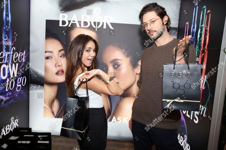 Stock Picture of Hale Appleman, Summer Bishil. Summer Bishil, left, and Hale Appleman attend Day 2 of the Kari Feinstein Style Lounge at the Andaz Hotel on in West Hollywood, Calif