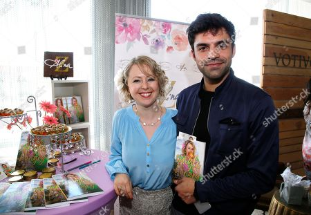 Alina Z, Sean Teale. Sean Teale, right, poses with Chef Alina Z at Day 1 of the Kari Feinstein Style Lounge at the Andaz Hotel on in West Hollywood, Calif