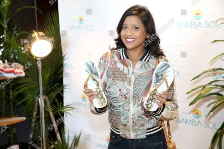 Tiya Sircar attends Day 1 of the Kari Feinstein Style Lounge at the Andaz Hotel on in West Hollywood, Calif