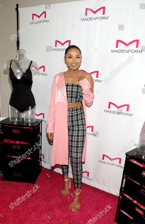 Jaylen Barron attends Day 1 of the Kari Feinstein Style Lounge at Andaz Hotel, in West Hollywood, Calf