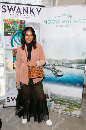 Taye Hansberry attends Day 1 of the Kari Feinstein Style Lounge at Andaz Hotel, in West Hollywood, Calf