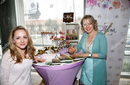 Kelly Stables, Alina Z. Kelly Stables, left, poses with Chef Alina Z at Day 2 of the Kari Feinstein Style Lounge at the Andaz Hotel on in West Hollywood, Calif