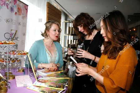 Alina Z, Audrey Moore, Elizabeth Ho. Chef Alina Z, from left, speaks with Audrey Moore and Elizabeth Ho at Day 2 of the Kari Feinstein Style Lounge at the Andaz Hotel on in West Hollywood, Calif