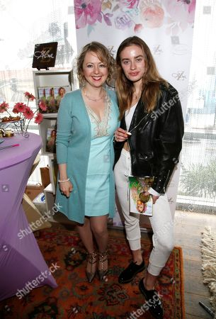 Alina Z, Sonya Esman. Sonya Esman, right, poses with Chef Alina Z at Day 2 of the Kari Feinstein Style Lounge at the Andaz Hotel on in West Hollywood, Calif