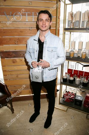 Thomas Doherty attends Day 2 of the Kari Feinstein Style Lounge at the Andaz Hotel on in West Hollywood, Calif