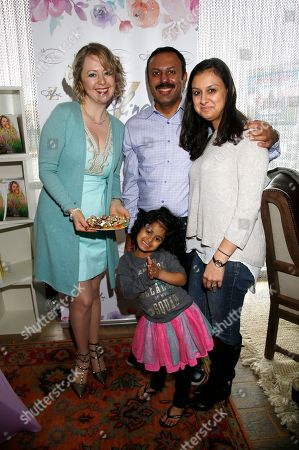 Alina Z, Rizwan Manji. Rizwan Manji, right, and family pose with Chef Alina Z at Day 2 of the Kari Feinstein Style Lounge at the Andaz Hotel on in West Hollywood, Calif
