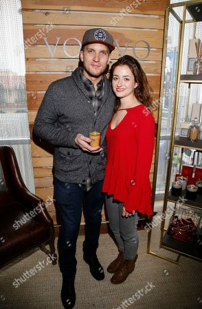 Stock Picture of Scott Michael Foster, Holly Curran. Scott Michael Foster, left, and Holly Curran attend Day 2 of the Kari Feinstein Style Lounge at the Andaz Hotel on in West Hollywood, Calif