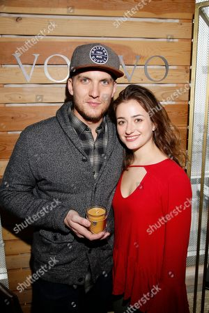 Stock Image of Scott Michael Foster, Holly Curran. Scott Michael Foster, left, and Holly Curran attend Day 2 of the Kari Feinstein Style Lounge at the Andaz Hotel on in West Hollywood, Calif