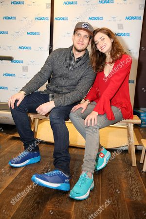 Holly Curran, Scott Michael Foster. Scott Michael Foster, left, and Holly Curran attend Day 2 of the Kari Feinstein Style Lounge at the Andaz Hotel on in West Hollywood, Calif
