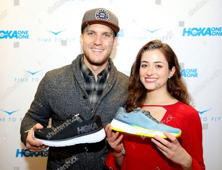 Stock Photo of Holly Curran, Scott Michael Foster. Scott Michael Foster, left, and Holly Curran attend Day 2 of the Kari Feinstein Style Lounge at the Andaz Hotel on in West Hollywood, Calif