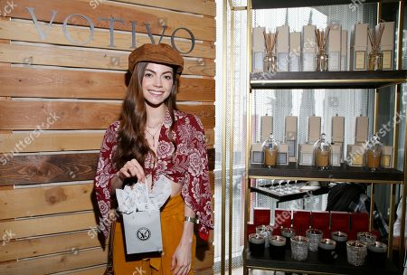 Caitlin Carver attends Day 2 of the Kari Feinstein Style Lounge at the Andaz Hotel on in West Hollywood, Calif