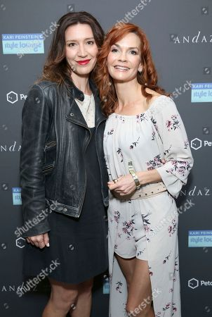 Nathalie Boltt, right, and guest attend Day 1 of the Kari Feinstein Style Lounge at the Andaz Hotel on in West Hollywood, Calif