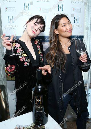 Alessandra Torresani, Jenna Ushkowitz. Alessandra Torresani, left, and Jenna Ushkowitz attend Day 1 of the Kari Feinstein Style Lounge at the Andaz Hotel on in West Hollywood, Calif