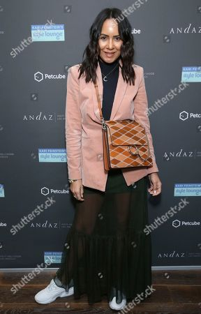 Taye Hansberry attends Day 1 of the Kari Feinstein Style Lounge at the Andaz Hotel on in West Hollywood, Calif