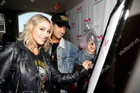 Mark Ballas, BC Jean. BC Jean, left, and Mark Ballas attend Day 1 of the Kari Feinstein Style Lounge at Andaz Hotel, in West Hollywood, Calf