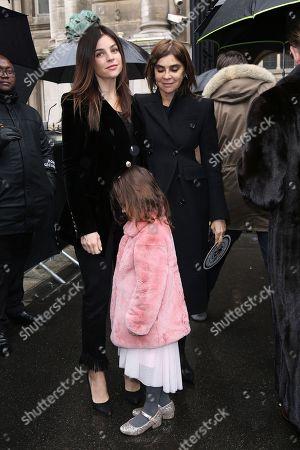 Stock Picture of Julia Restoin-Roitfeld, daughter Romy, and Carine Restoin-Roitfeld