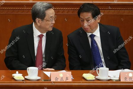 Li Zhanshu and Yu Zhengsheng