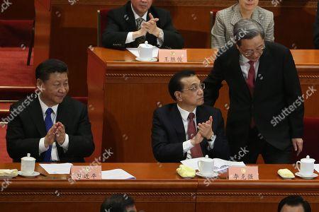 Xi Jinping, Li Keqiang and Yu Zhengsheng