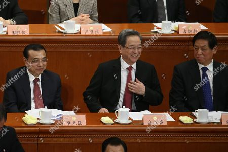 Stock Image of Xi Jinping, Li Keqiang and Yu Zhengsheng
