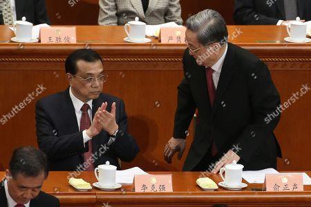 Li Keqiang and Yu Zhengsheng