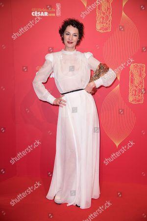 Jeanne Balibar with Best Actress award
