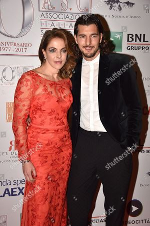 Stock Picture of Claudia Gerini Andrea Preti