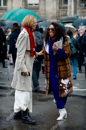Selby Drummond with Shiona Turini after Balmain