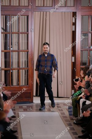 Stock Picture of Serge Ruffieux on the catwalk