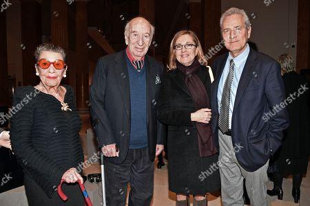 Giuliano Montaldo with his wife Vera Pescarolo, Barbara Palombelli, Francesco Rutelli