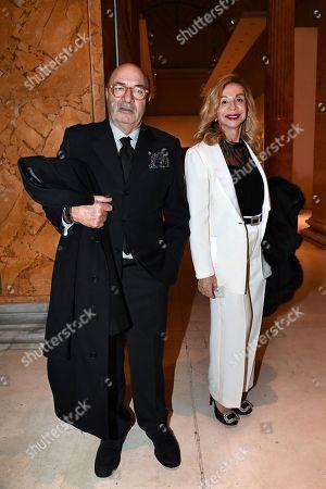 Stage designers Oscar Dante Ferretti with his wife Francesca Lo Schiavo