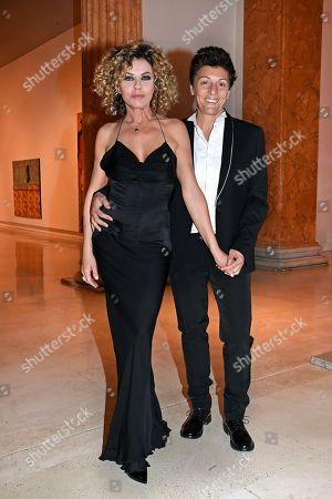 Stock Picture of Eva Grimaldi and Imma Battaglia