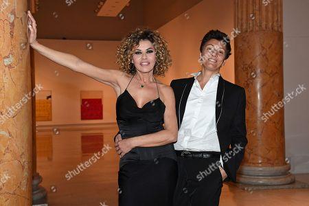 Stock Image of Eva Grimaldi and Imma Battaglia