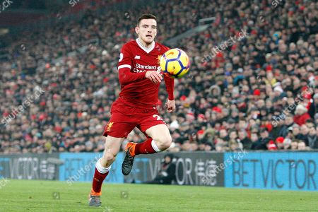 Liverpool defender Andrew Robertson (26) during the Premier League match between Liverpool and Newcastle United at Anfield, Liverpool. Picture by Craig Galloway