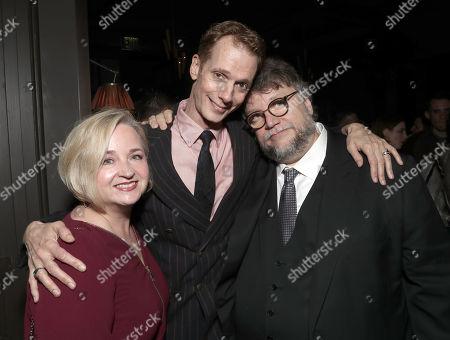 Laurie Jones, Doug Jones and Director Guillermo Del Toro