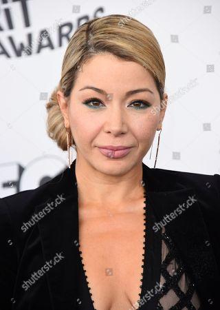 Katherine Castro arrives at the 33rd Film Independent Spirit Awards, in Santa Monica, Calif