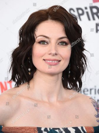Natasha Romanova arrives at the 33rd Film Independent Spirit Awards, in Santa Monica, Calif