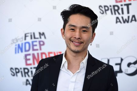 Justin Chon arrives at the 33rd Film Independent Spirit Awards, in Santa Monica, Calif