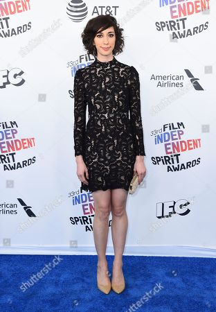 Stock Photo of Lana Wilson arrives at the 33rd Film Independent Spirit Awards, in Santa Monica, Calif