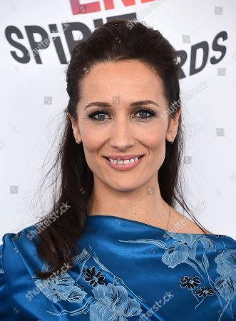 Ana Asensio arrives at the 33rd Film Independent Spirit Awards, in Santa Monica, Calif