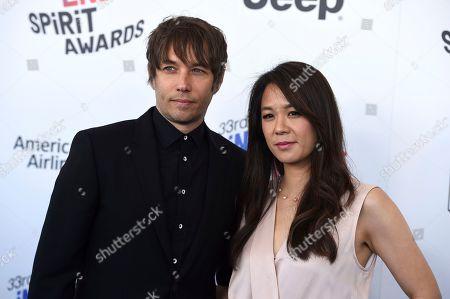 Stock Photo of Sean Baker, Samantha Quan. Sean Baker, left, and Samantha Quan arrive at the 33rd Film Independent Spirit Awards, in Santa Monica, Calif