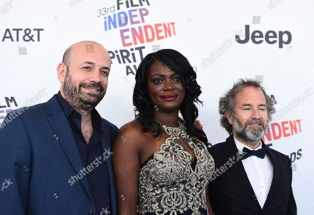 Antonio Mendez Esparza, Regina Williams, Pedro Hernandez Santos. Antonio Mendez Esparza, from left, Regina Williams, and Pedro Hernandez Santos arrive at the 33rd Film Independent Spirit Awards, in Santa Monica, Calif